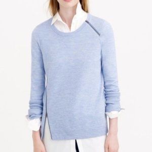 J. Crew Merino Wool Asymmetrical Zip Sweater - SM